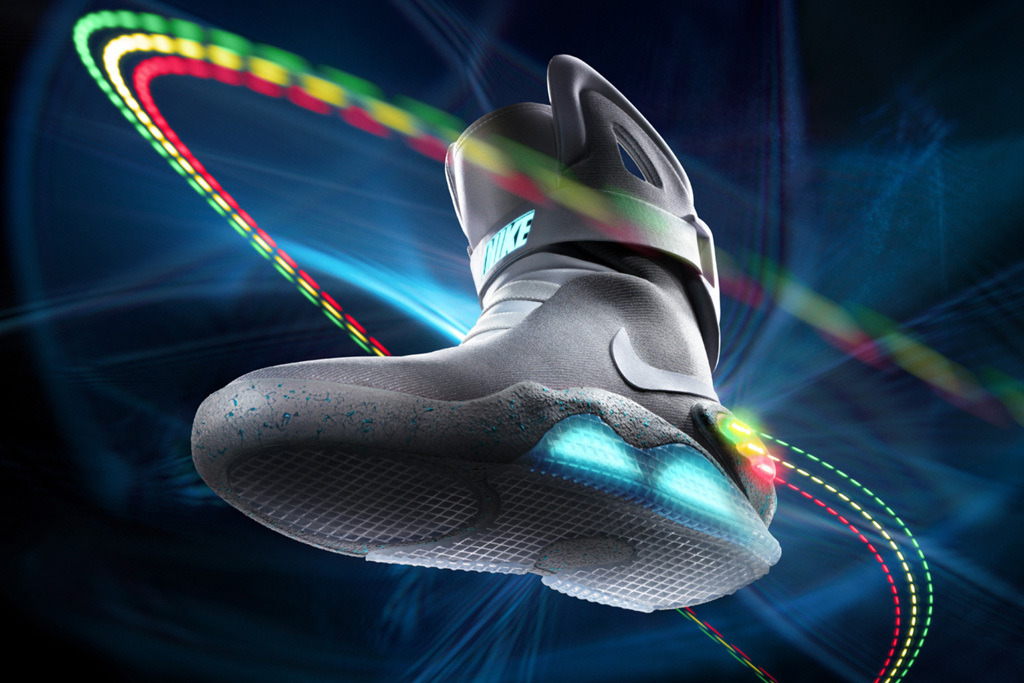 newest 069dd bd182 The Nike Air Mag sneakers from Back to the Future II.