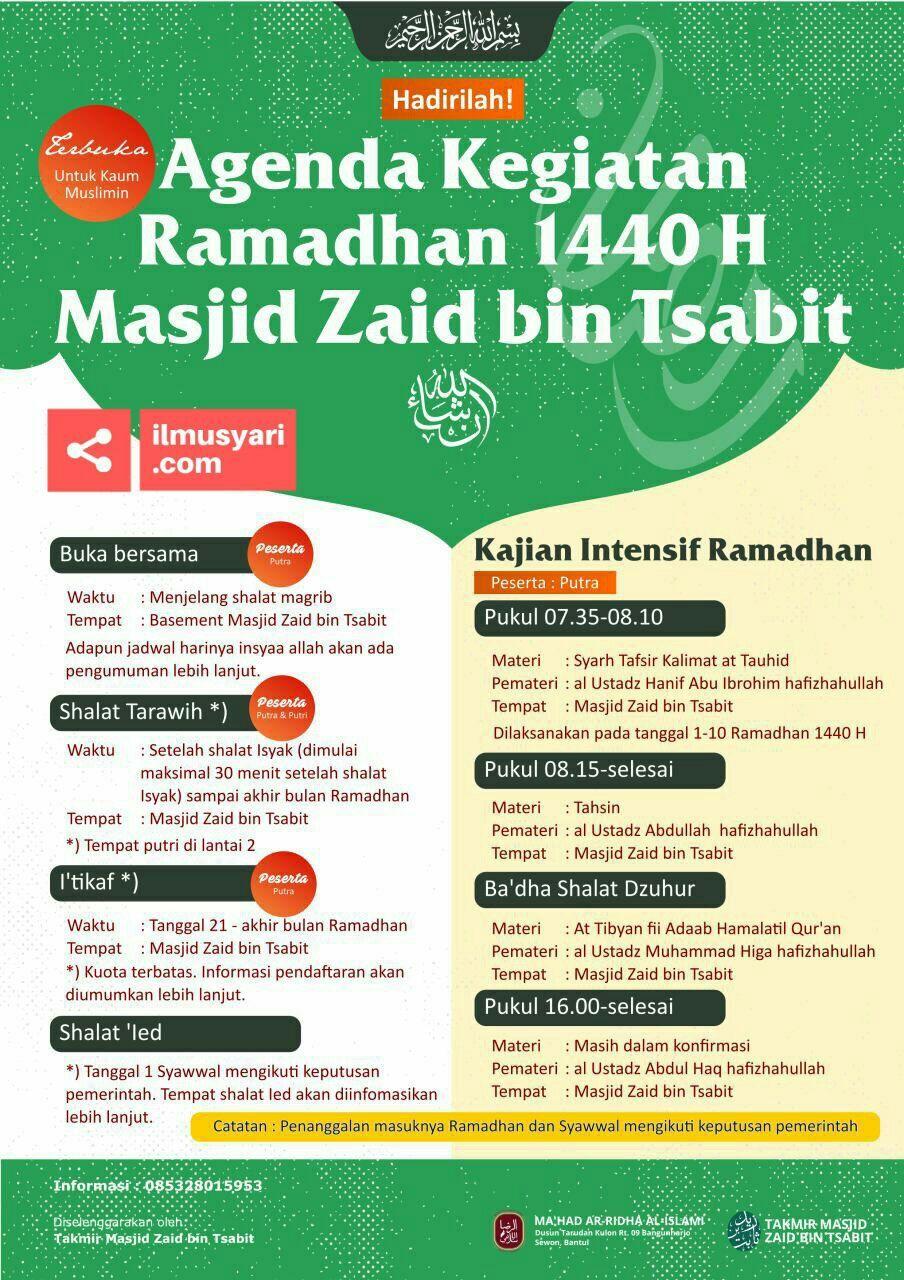 Bantul, (Agenda Ramadhan Masjid Zaid bin Tsabit), Mei 2019'
