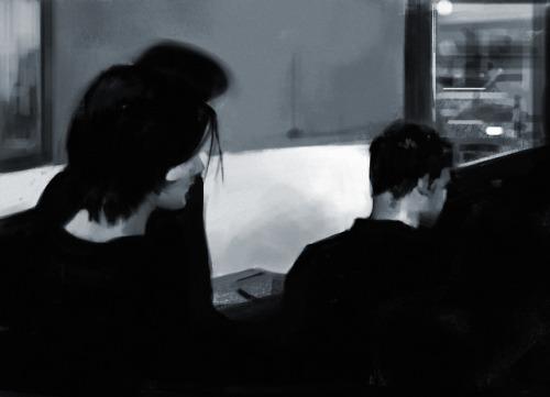 art digital art digital painting meeting people is easy radiohead