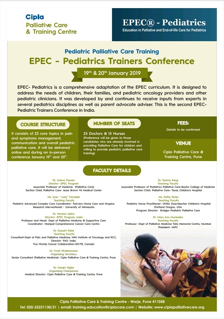 Asia Pacific Hospice Palliative Care Network — EPEC