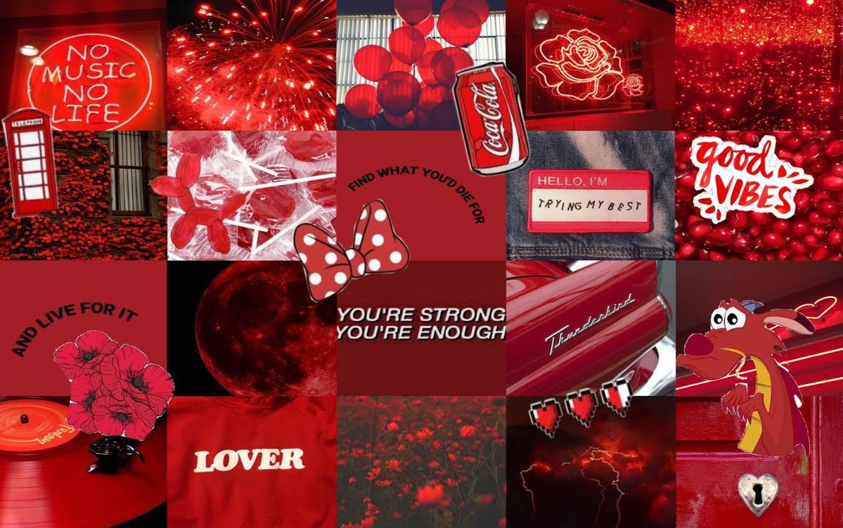 Red Collage Tumblr Posts Tumbral Com