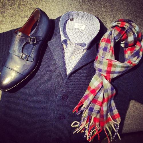 skabo: Santoni shoes, Gerts Cashmere knit, Skabo...