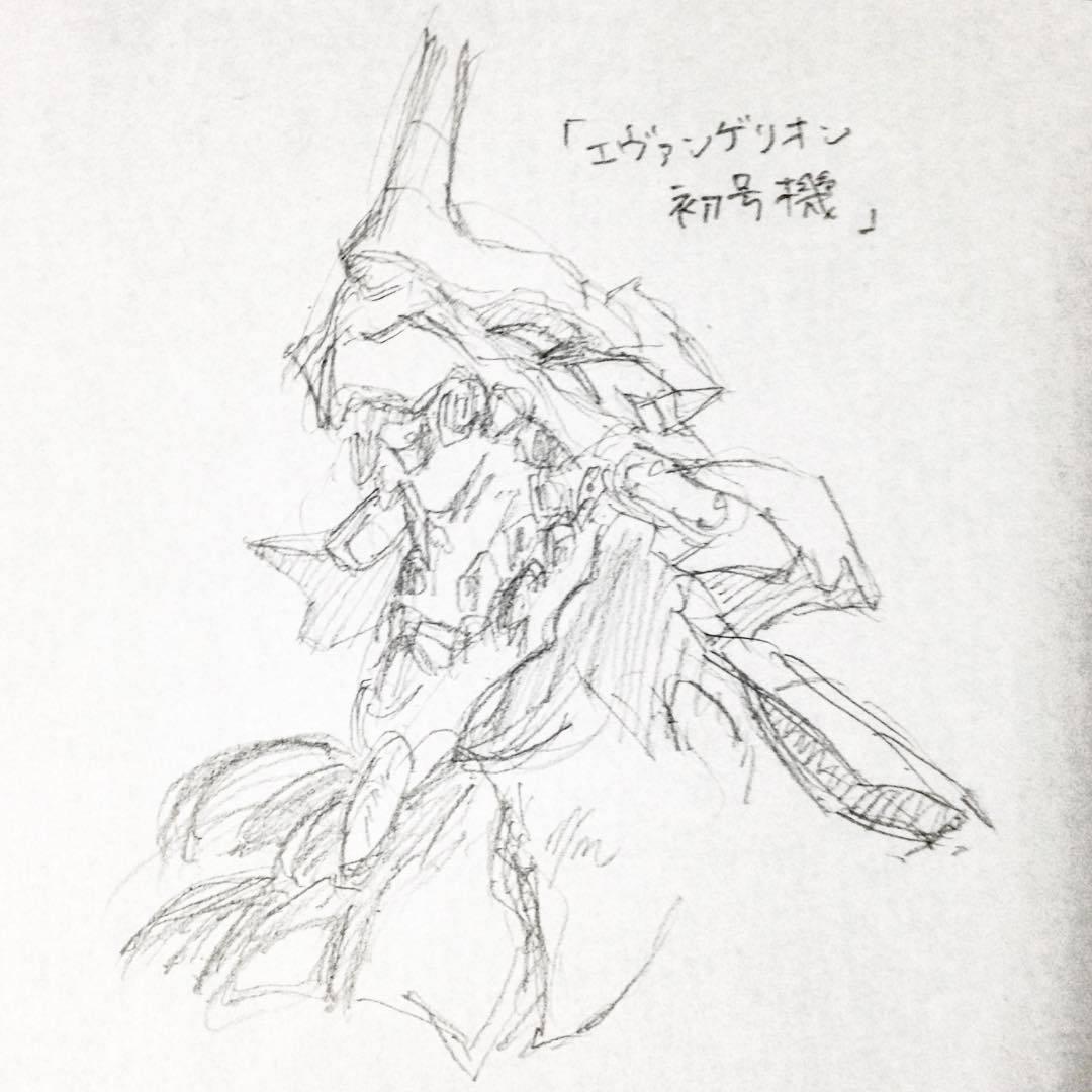 Yoshitaka Kai エヴァンゲリオン初号機 描いてみたくなったので描い