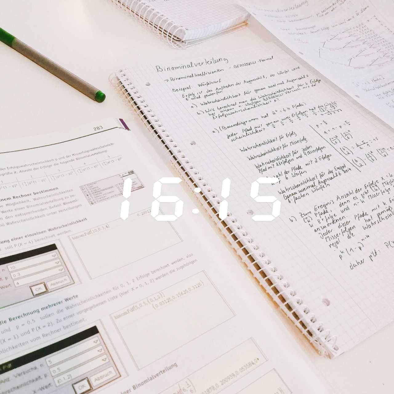 열심히 공부하자 — 06 11 18 || I have a math exam on thursday