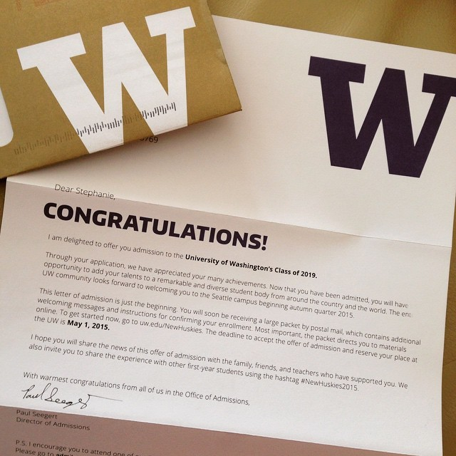 UNIVERSITY OF WASHINGTON — stephanieha: right as I turned