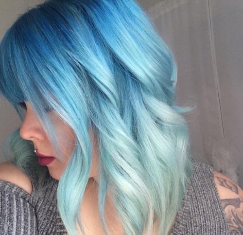 light blue hair on tumblr