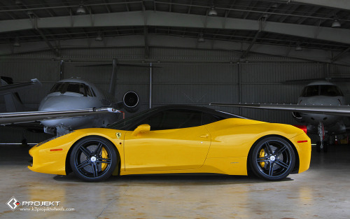 K3 Projekt Wheels Ferrari 458 on F2 Concave/Retroflex Wheels 20x9 & 20x10.5 Carbon Hydro dipped (by K3 Projekt)