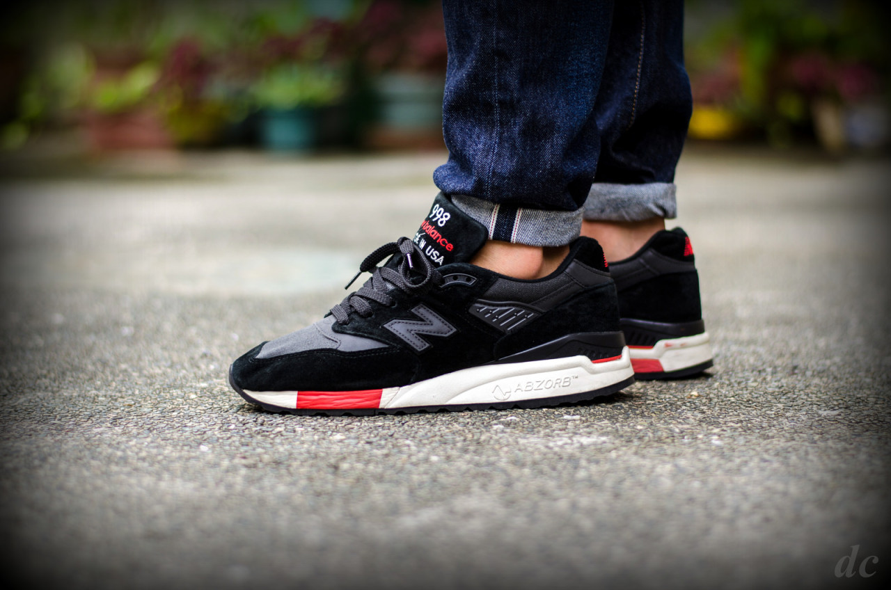 buy online a899a 33984 New Balance 998 - Black/Red (by denniscu) – Sweetsoles ...