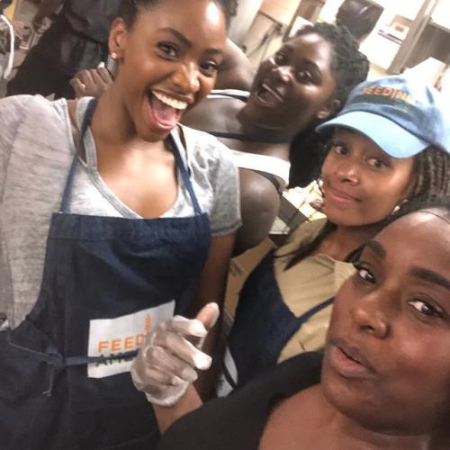 Nicole Beharie teyonah parris danielle brooks friendship feeding america volunteer service Nikki Beharie black girl magic self care love this