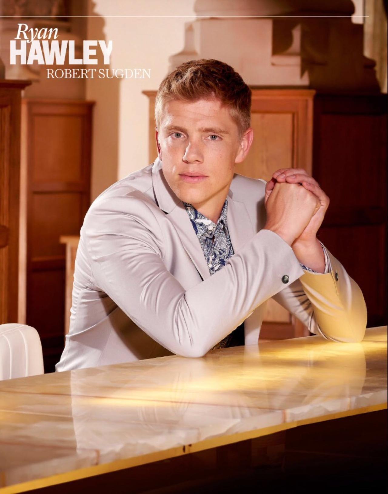 Ryan hawley hawley robert interview summer robert sugden inside soap