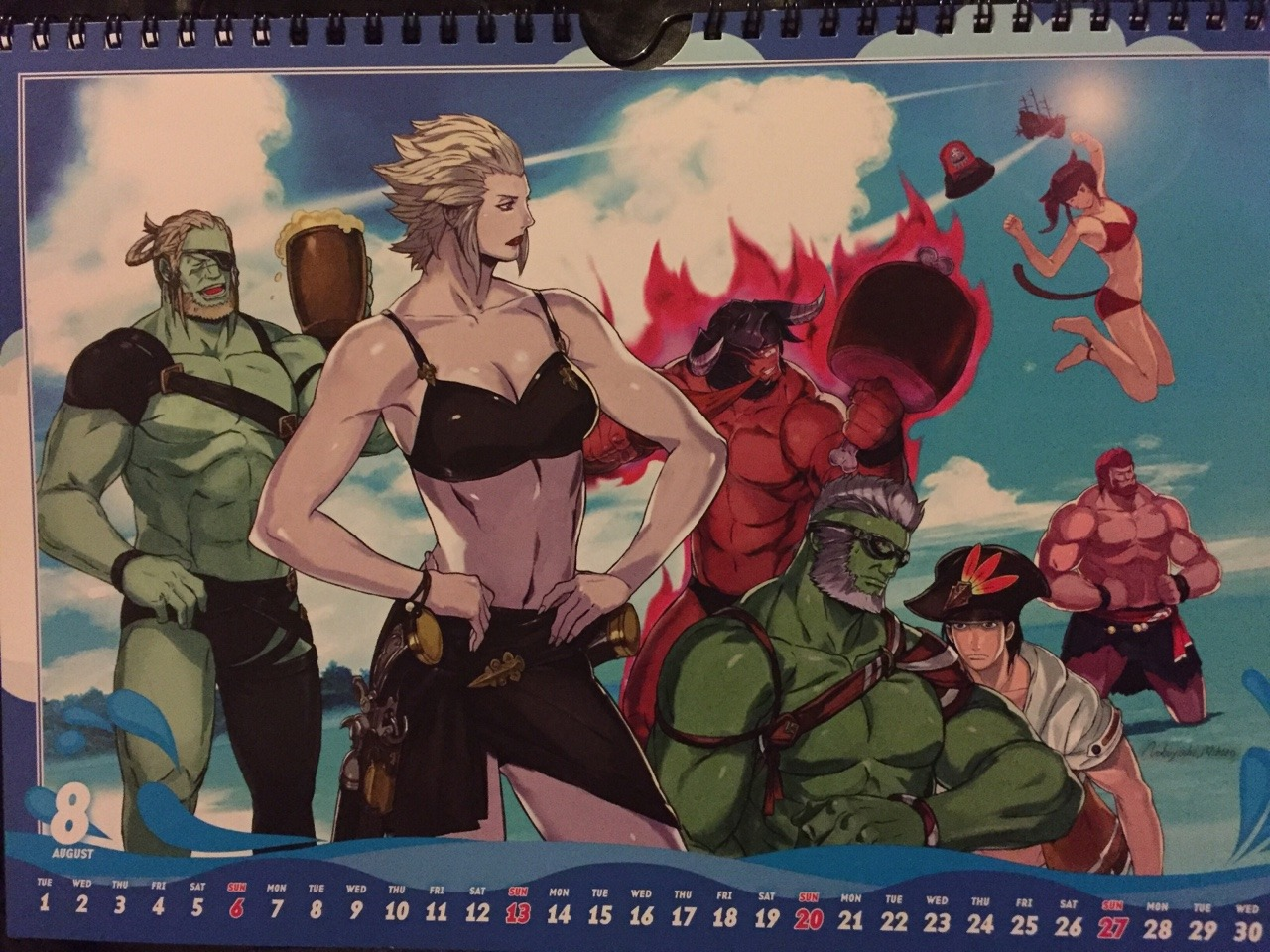 "This will sting "" — FFXIV Calendar 2017: August"