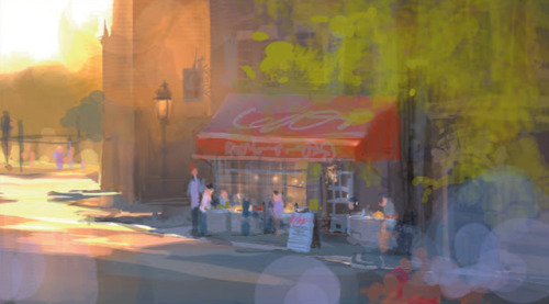 scurviesdisneyblog: Visual development for Ratatouille by Dominique Louis