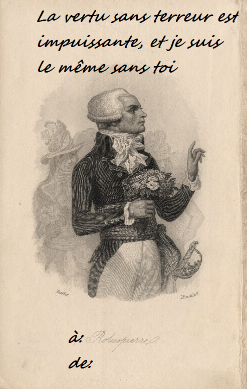 #French Revolution#robespierre#saint just#couthon#jacobins #happy valentines day