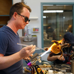 Students in Joe Peters' class embraced his nautical and sculptural approach to flameworking this week at The Studio!
