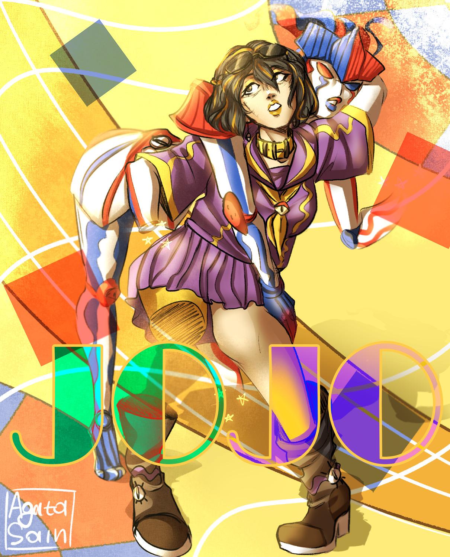 """Shizuka Joestar and """"achtung baby""""   part 4,5 #jojo #jojo bizarre adventure #jostar#shizuoka jostar#shizuka jostar#jojo art #jojo part 7  #jojo part 5 #jojo joestar#shizuoka joestar"""