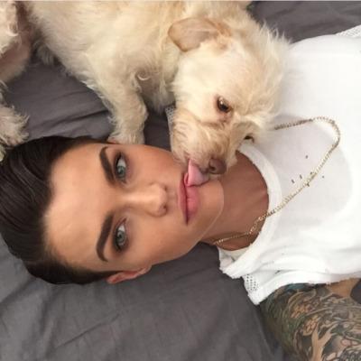 selfie with dog  7f25c0ebf0e