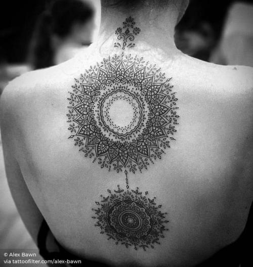By Alex Bawn, done at Bishop Tattoo Company, Hull.... big;of sacred geometry shapes;back;alex bawn;mandala;facebook;twitter;sacred geometry