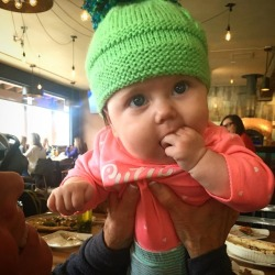 And today I'm 4 fingers in the mouth and 4 months old! (at Lake Tahoe AleWorX)