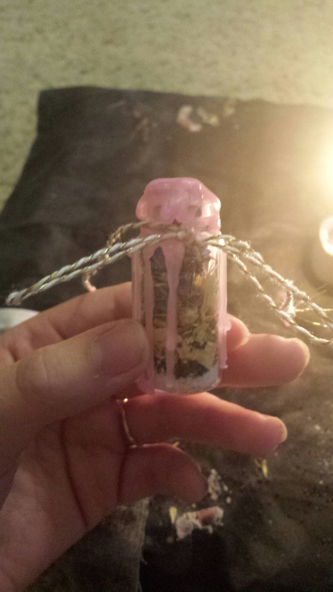 Witch Spell Bottle Sea Shell Attraction Healing Calming Spells