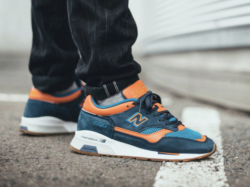 New Balance NewBalance Sneakers Trainers WDYWT Blue Orange New Balance 1500 NB1500 1500 NO Made in England Running Low top Navy