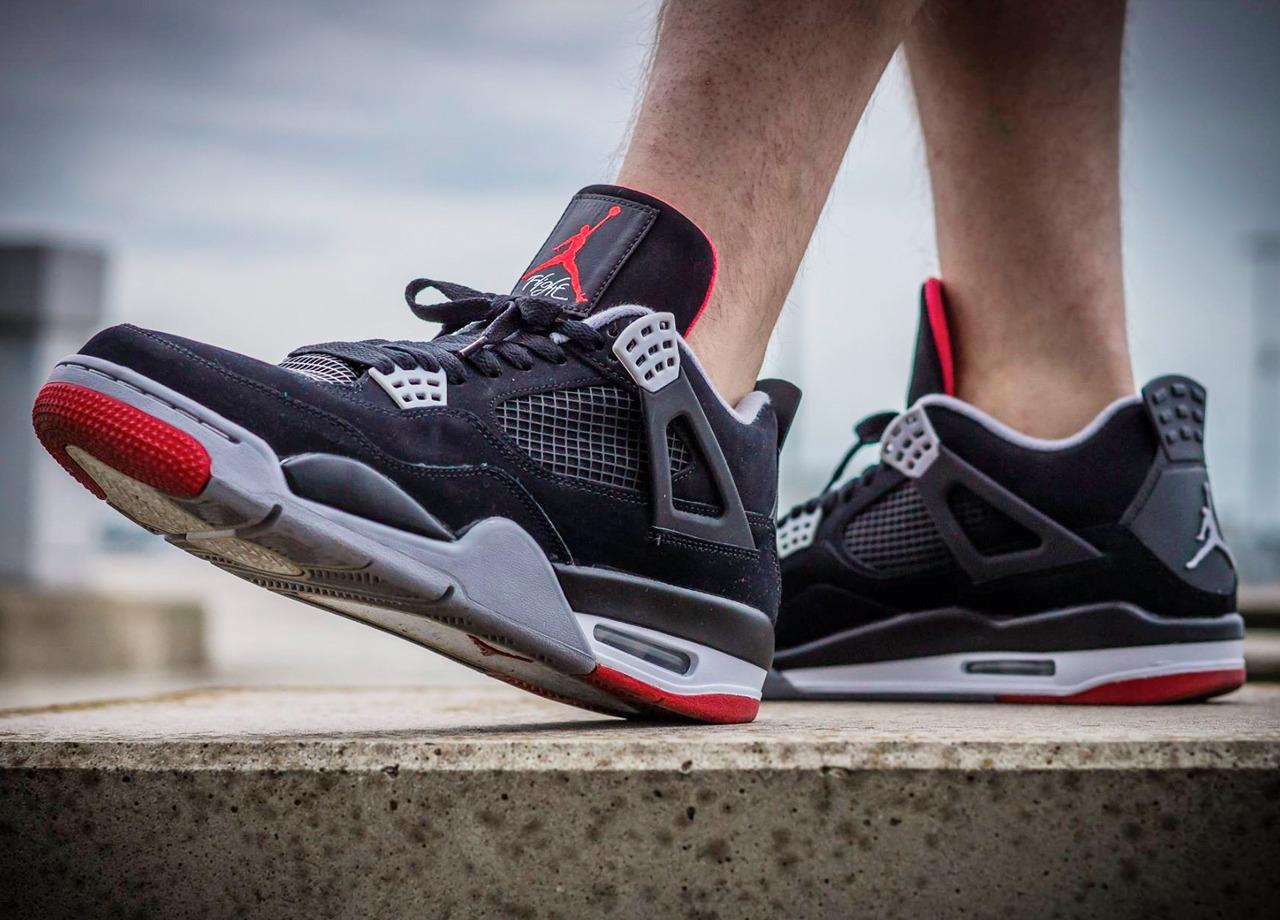 c21fdcbfb1a95b Nike Air Jordan IV Retro  Bred  (by Jens... – Sweetsoles – Sneakers ...
