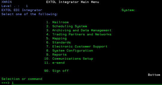cleo extol integrator edi menu mailroom