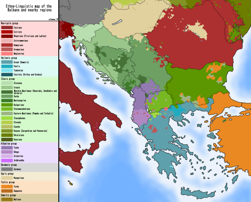 maptitude1:Ethno-linguistic divisions in the Balkans