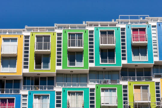 Colored apartments by Pierre-Yves Babelon on 500px.com
