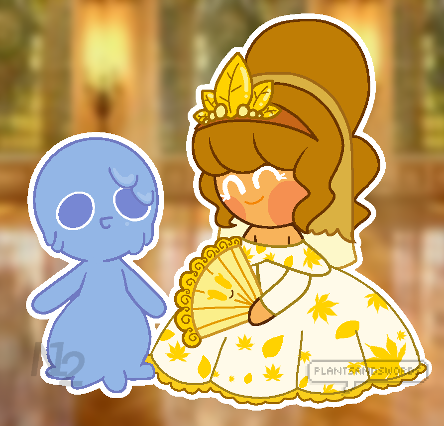 @plants-and-swords Idk how old this is, but I wanted something to do with my lil baby bean and this is what I got. owo I hope you like it.Go check out the original post! #clone cookie#clone #gold leaf cookie #gold leaf#cookie #cookie run: ovenbreak  #cookie run ocs  #cookie run oc #cookie run#overbreak#fanart#i think#art#nino#baby bean