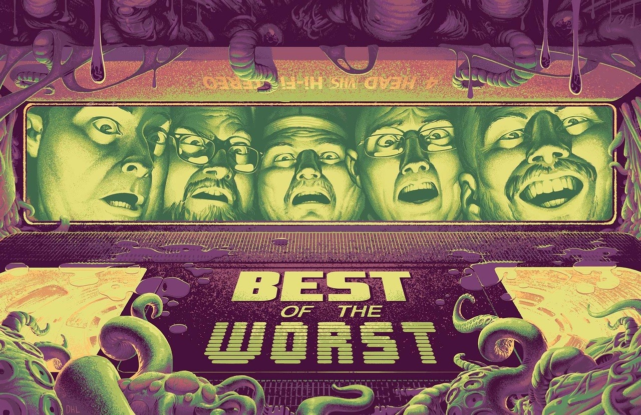 Best of the Worst This is an amazing Best of the Worst poster by David Henry Lantz.I wrote about the weird, wild, and wonderful world of Red Letter Media back in August 2016 and I've recently been on a big Best of the Worst kick. If you haven't checked them out yet, I can't recommend their videos enough. Red Letter Media is an intelligent Mystery Science Theatre 3000 featuring a menagerie of misfits, inside jokes, and pointed commentary for the internet age.
