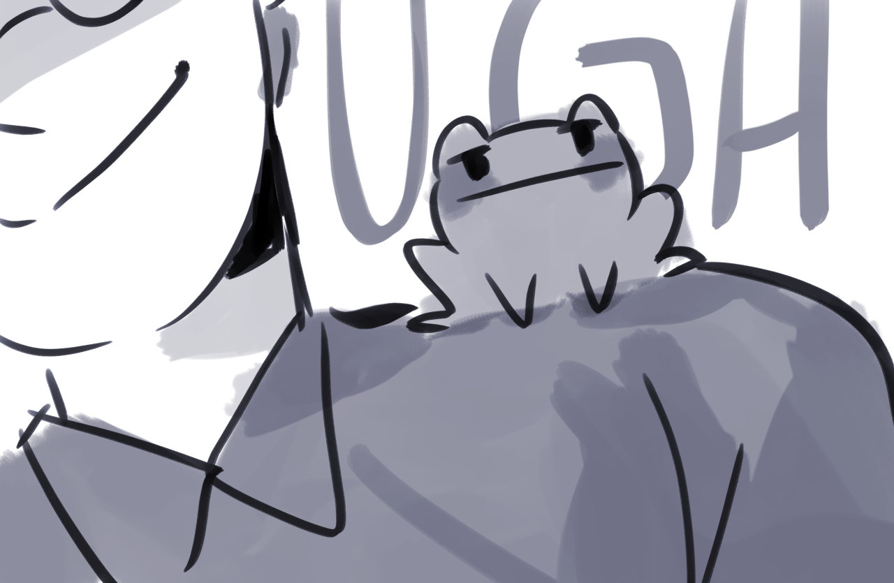 lmao i wrote the frog quentin fic #my art#fishfingersandscarves#the Magicians #everyone deserves some frog quentin in their life #doodle#fic rec#my fic#queliot#obviously#crack fic#josh hoberman#quentin coldwater #but hes a frog