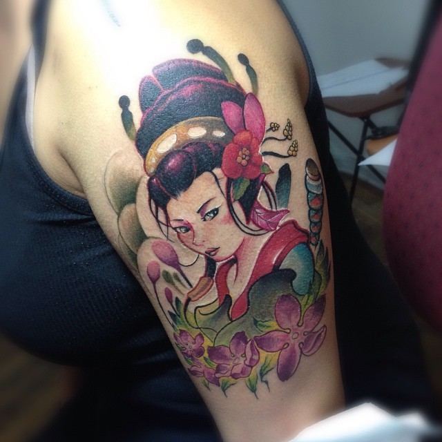 Escaping Fools Tattoo De Hoy Ninja Warrior Oiran