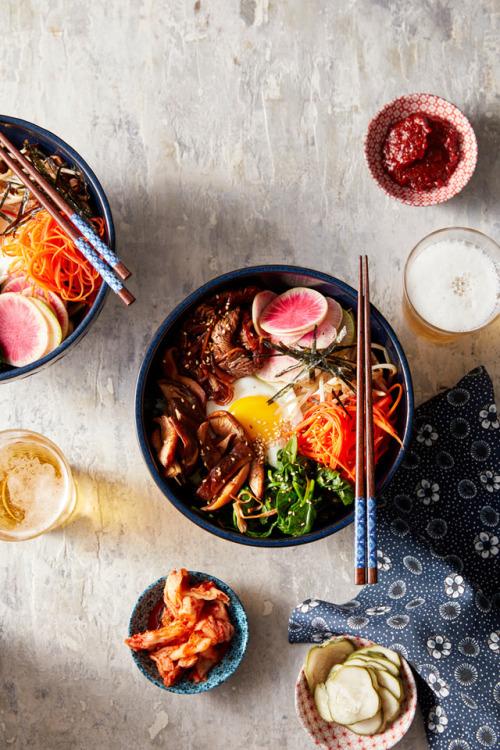 bibimbap egg meat eggs asian korean carrots