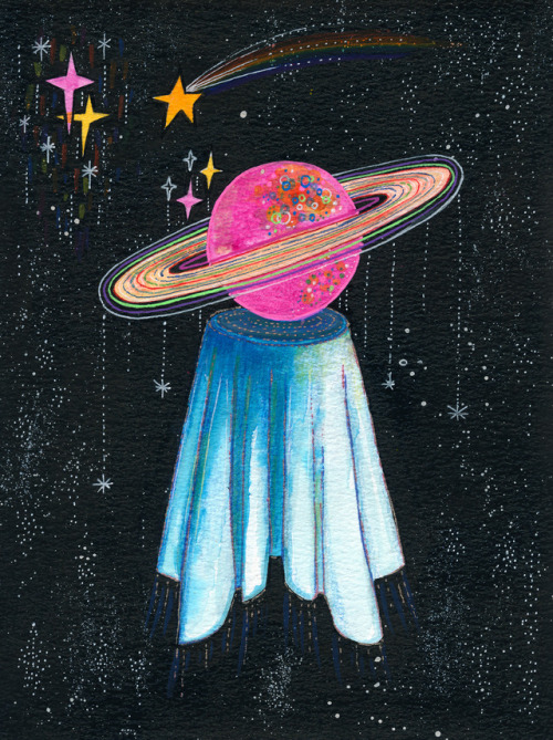 ink on paper planet space Illustration artists on tumblr