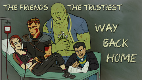 fallout 3 way back home my art charon ruby charon and ruby fawkes butch deloria brahmin lone wanderer