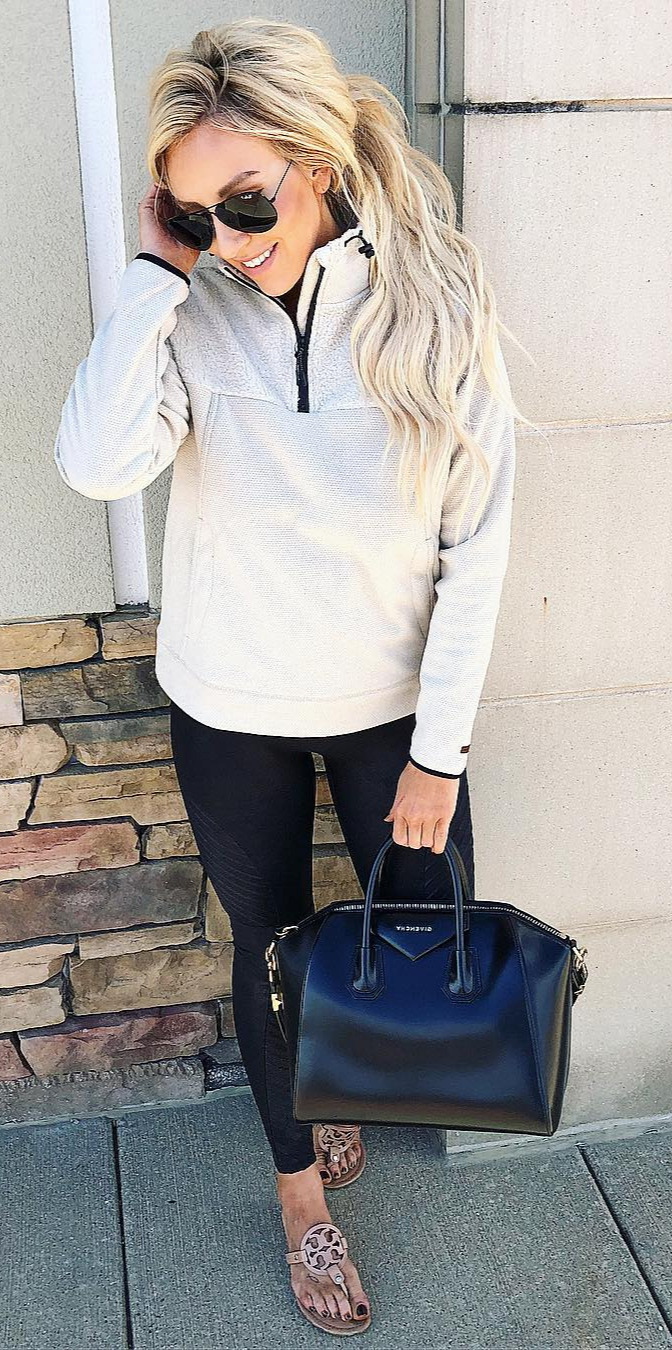 50+ Cozy Outfit Ideas You Need - #Beautiful, #Girl, #Shopping, #Loveit, #Street Happy Sunday friends... I bring to you my NEW favorite cozy neutral quarter zip... made complete of course by an amazing collar (this one is super soft and runs pretty tts... Iin a small) the perfect item to take you into Fall and Winter! Shop my exact look by following me on the  App OR click on the link in my bio and then click on the pic youinterested in shopping: