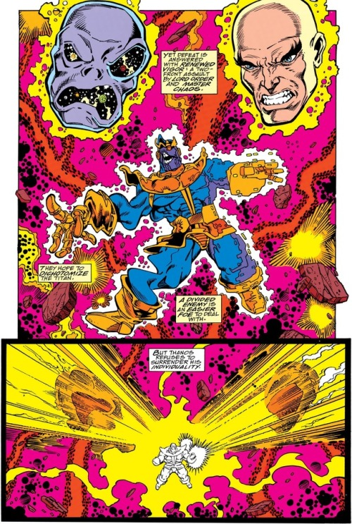 Thanos vs. Lord Chaos and Master Order.