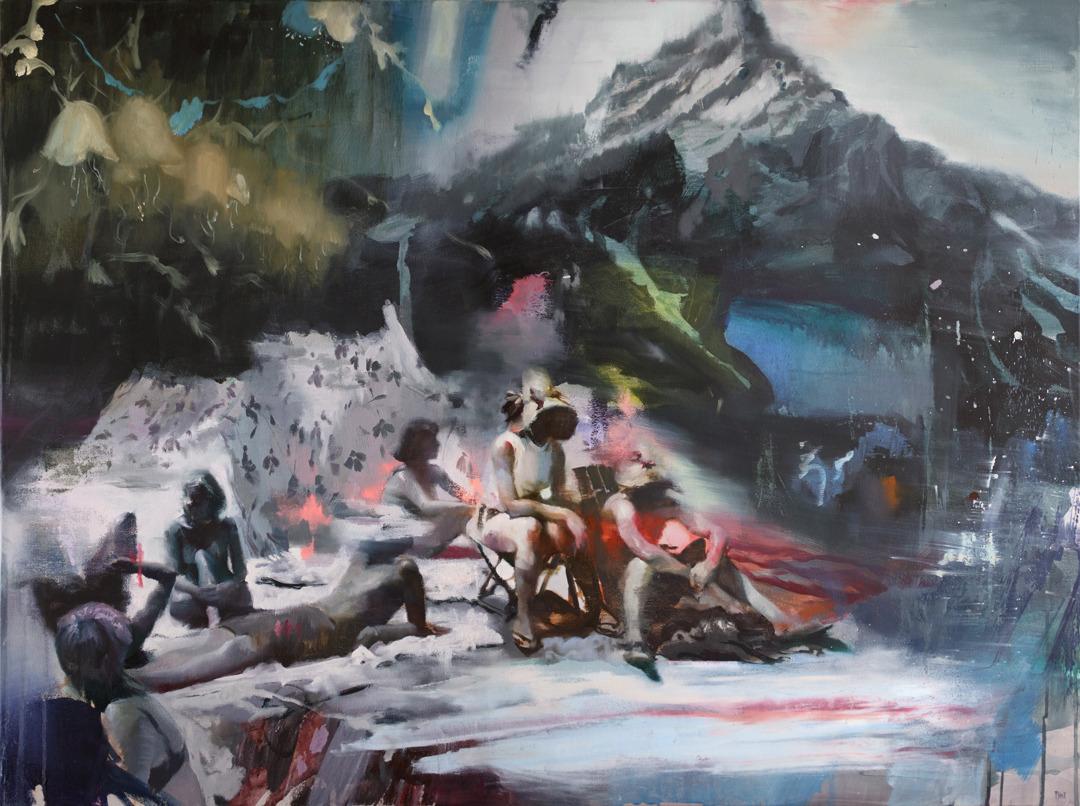 Joshua Flint   Lakeside ,2018 oil on canvas #upl#va#painting#oil painting#Joshua Flint