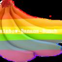 Rainbow Banana Bunch tumblr blog logo