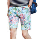Mens Floral Print Shorts - The Stylists Perspective tumblr blog logo