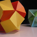 ORIGAMI CONSTRUCTIONS: spiked pentakis dodecahedron + instructions | 128x128