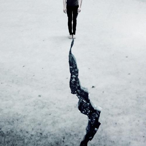 Martin Stranka winter mood ice crack photo art boy