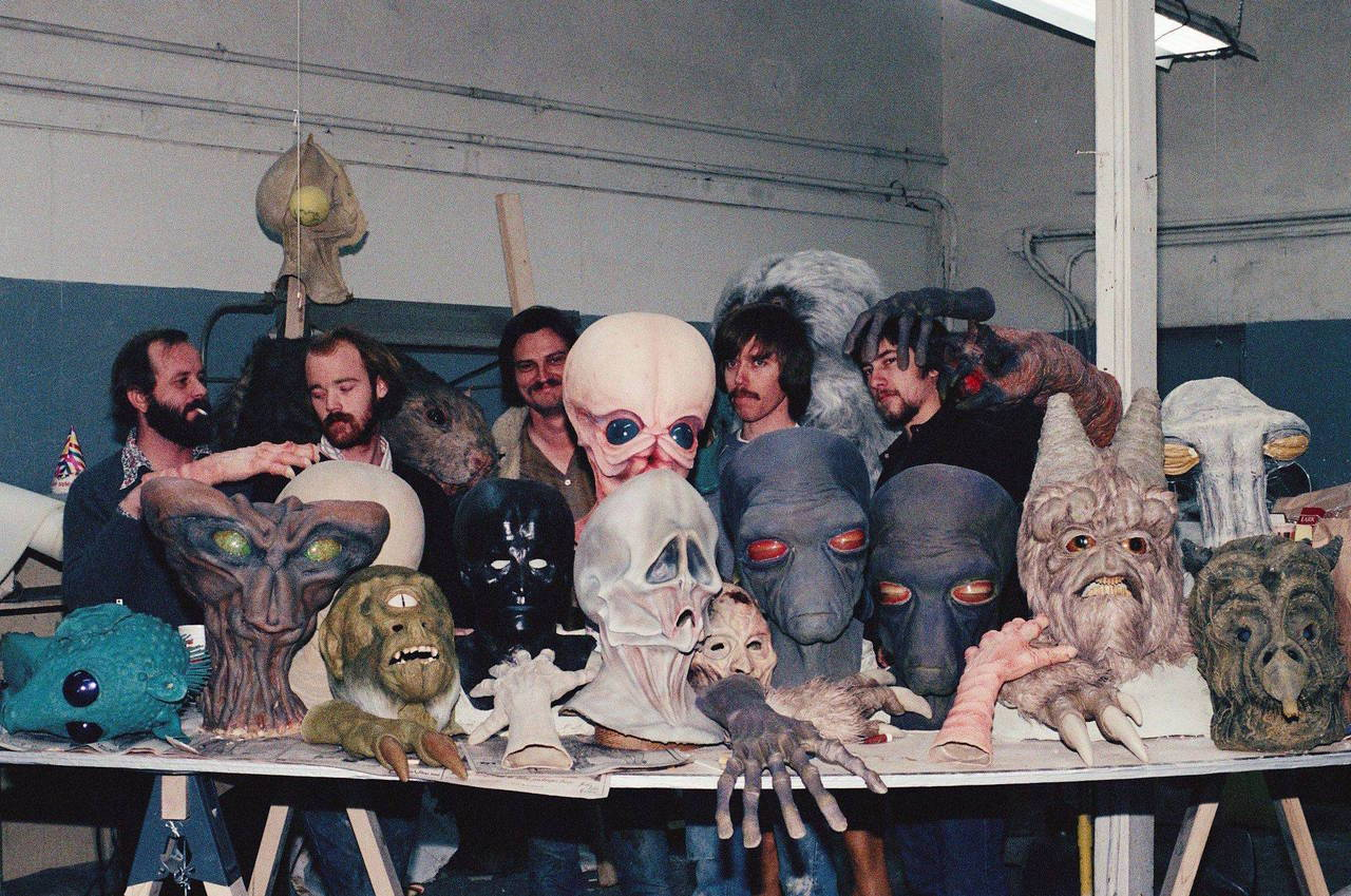 Behind the scenes of STAR WARS, 1977.