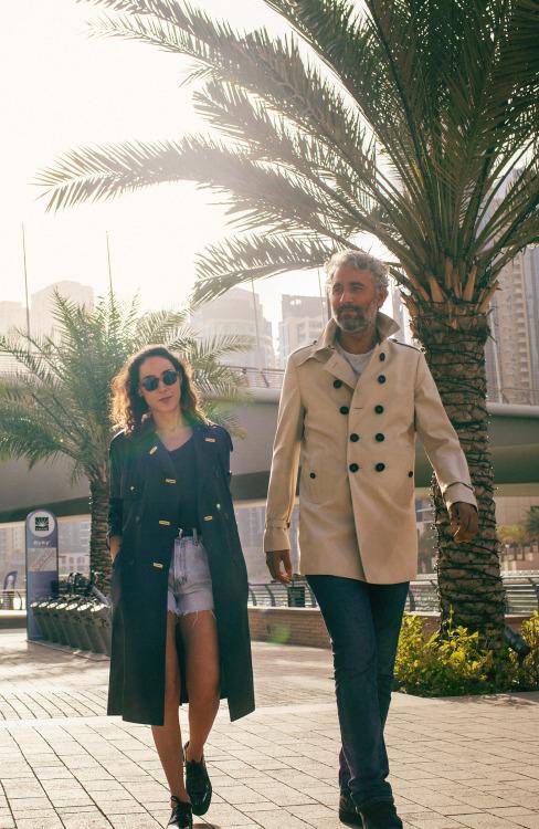 Artists Sara Naim and Athier MousawiPhotographed by Anna Maria Nielsen at Dubai Marina