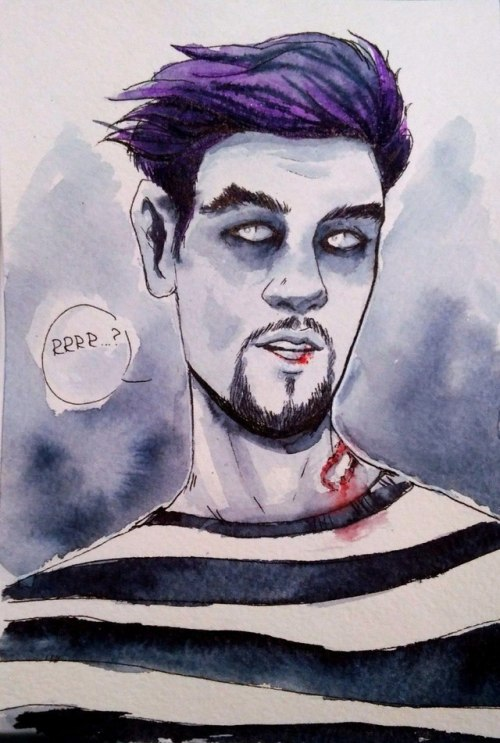 Inktober robbie the zombie jacksepticeye my art