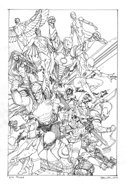mcnivenart:Here's the final rough for the EW piece