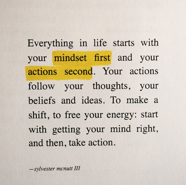 mindset first.  Follow @mostimportantproject​ for motivational posts! #self care#selfcare#motivation#self love#life quote#quote#entrepreneur#mindset#empower#manifest#affirm#affirmation#self help#motivational quotes#quotes#self discipline#inspiration#inspirational#growth#healing#personality development#self#quoteoftheday#mantra#success