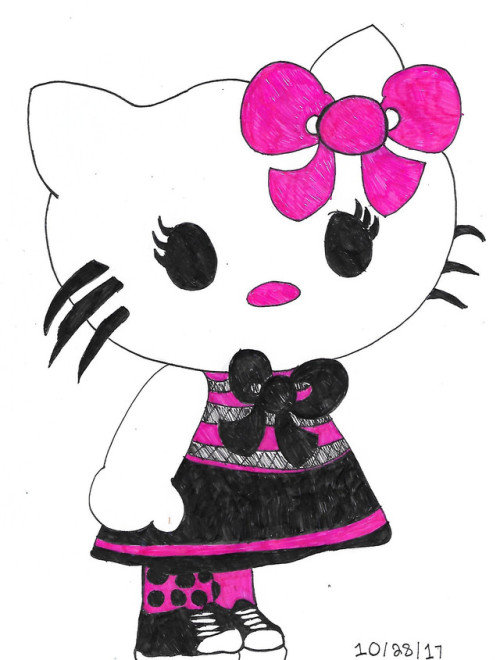 hello kitty sanrio kitty white cat cats my art