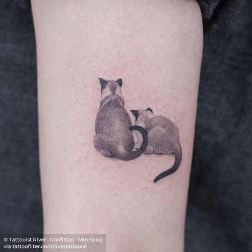 By Tattooist River · Graffittoo · Min Kang, done at Graffittoo,... small;pet;feline;single needle;animal;tricep;tiny;ifttt;little;rivertattooist;cat