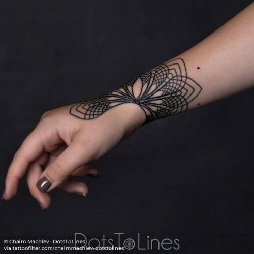 By Chaim Machlev · DotsToLines, done at DotsToLines, Berlin.... chaimmachlev dotstolines;line art;of sacred geometry shapes;mandala;facebook;wrist;twitter;sacred geometry;medium size;hand